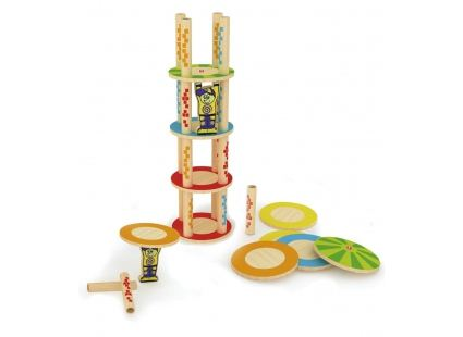 Головоломки Головоломка-балансир HAPE Crazy Tower (897660) 1