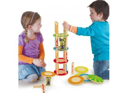Головоломки Головоломка-балансир HAPE Crazy Tower (897660) 2