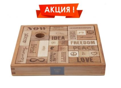Конструкторы Конструктор WOODEN STORY Peace and Love, 29 блока (WS07) 7