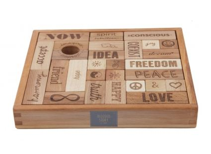 Конструкторы Конструктор WOODEN STORY Peace and Love, 29 блока (WS07) 1
