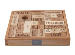 Конструктор WOODEN STORY Peace and Love, 29 блока (WS07)
